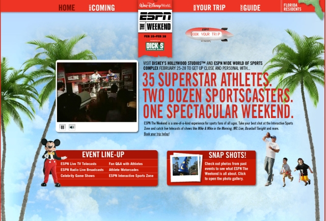 site for ESPN & Disney